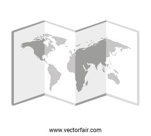 isolated paper map icon
