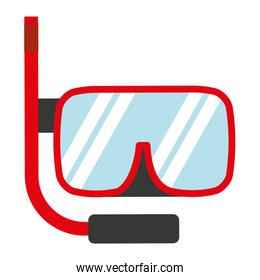 snorkel gear isolated icon design