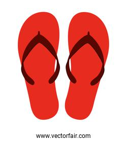 flip flops isolated red icon design