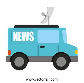 car news isolated icon design