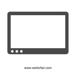 tablet device  isolated icon design