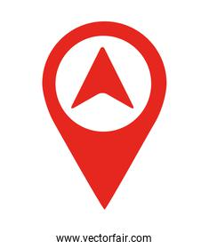 arrow location pin  isolated icon design