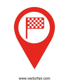 flag finish location pin  isolated icon design