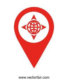 planet location pin  isolated icon design