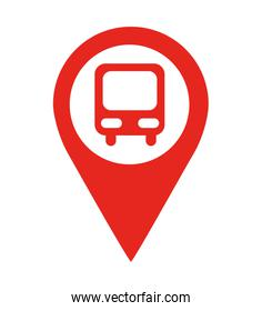 bus stop location pin  isolated icon design