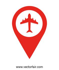 airport location pin  isolated icon design