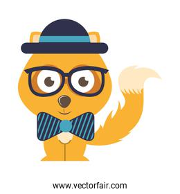 character hipster style isolated icon design
