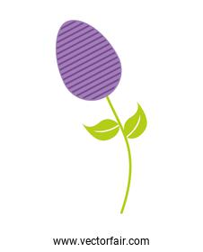 sweet egg paint colorfull over stem   isolated icon design