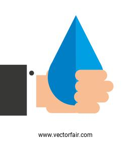 hand with drop  icon
