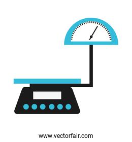 balance scale measure weight icon