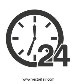 time clock 24 hours icon