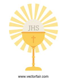 cup gold chalice first communion icon