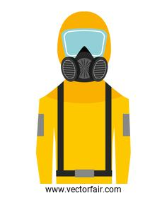 worker man uniform security icon