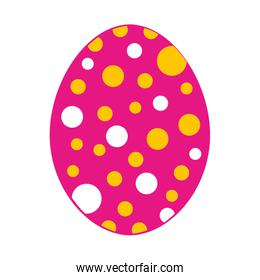 sweet egg paint colorfull isolated icon design