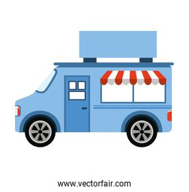 car fast food shop icon