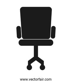 office chair silhouette icon
