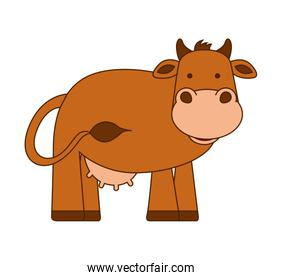 cow character isolated icon
