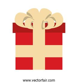 red gift present box icon