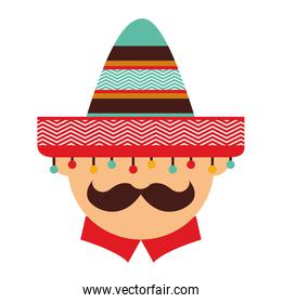 mexican man character icon