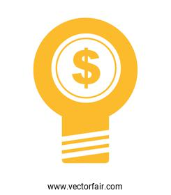 bulb light business isolated icon