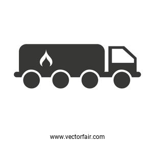 truck fuel tank isolated icon