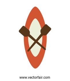 kayak boat isolated icon