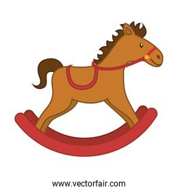 horse wooden toy swinging