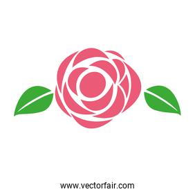 rose floral decoration icon