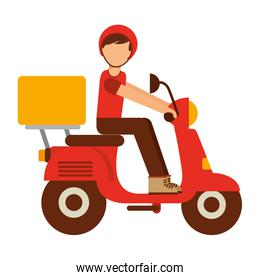 motorcycle delivery food isolated icon