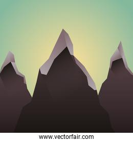 mountains landscape picture isolated