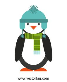 penguins christmas character isolated icon
