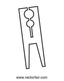 clothes peg isolated icon