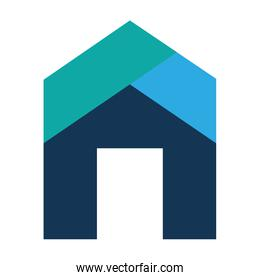 home house exterior isolated icon