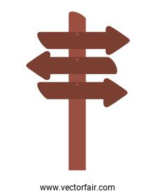 wooden arrows signal isolated icon