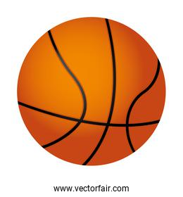 basketball ball isolated icon