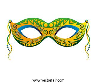 carnival mask isolated icon