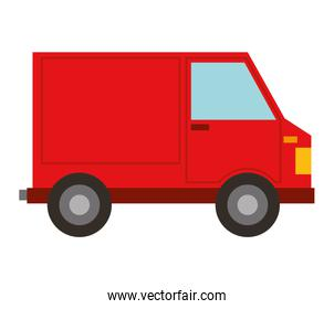 delivery truck van isolated icon