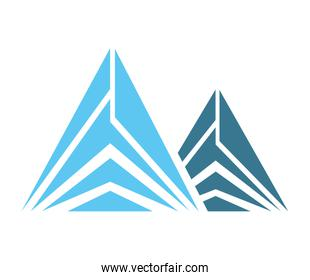 Ice Mountain isolated icon