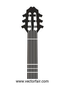 guitar instrument musical isolated icon