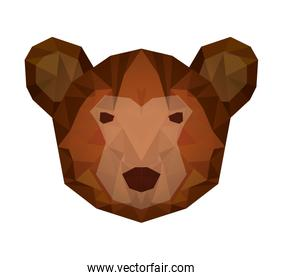 bear head low poly isolated icon