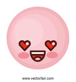 face emoticon cute circle icon
