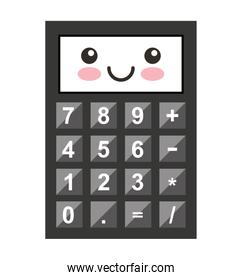 calculator character isolated icon