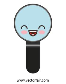 magnifying glass character isolated icon