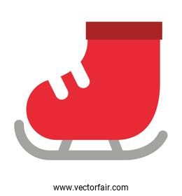 skate ice isolated icon