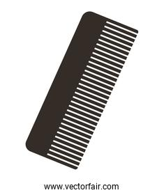 comb silhouette isolated icon