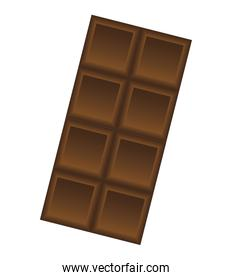 sweet chocolate bar isolated icon
