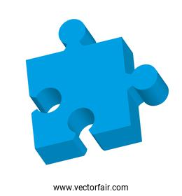puzzle game piece isolated icon