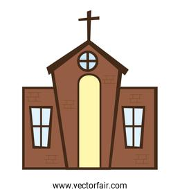 church building religion isolated icon