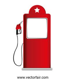 pump oil fuel isolated icon