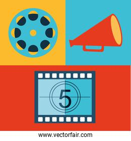 cinema entertainment flat icon